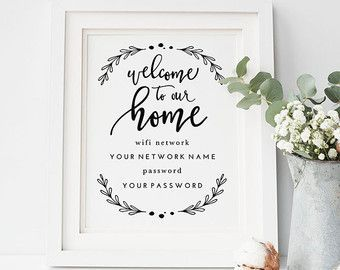 """Printable Wifi Password Welcome to Our Home 