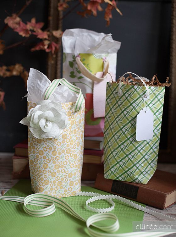 How to make a gift bag from 12 x 12 scrapbook paper