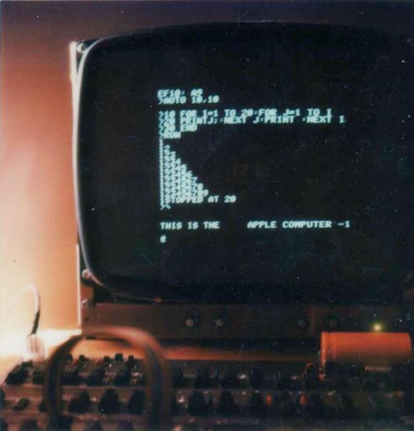 And here's the Apple-1 running the sort of program you'd write if you were learning to program in BASIC in the 1970s: