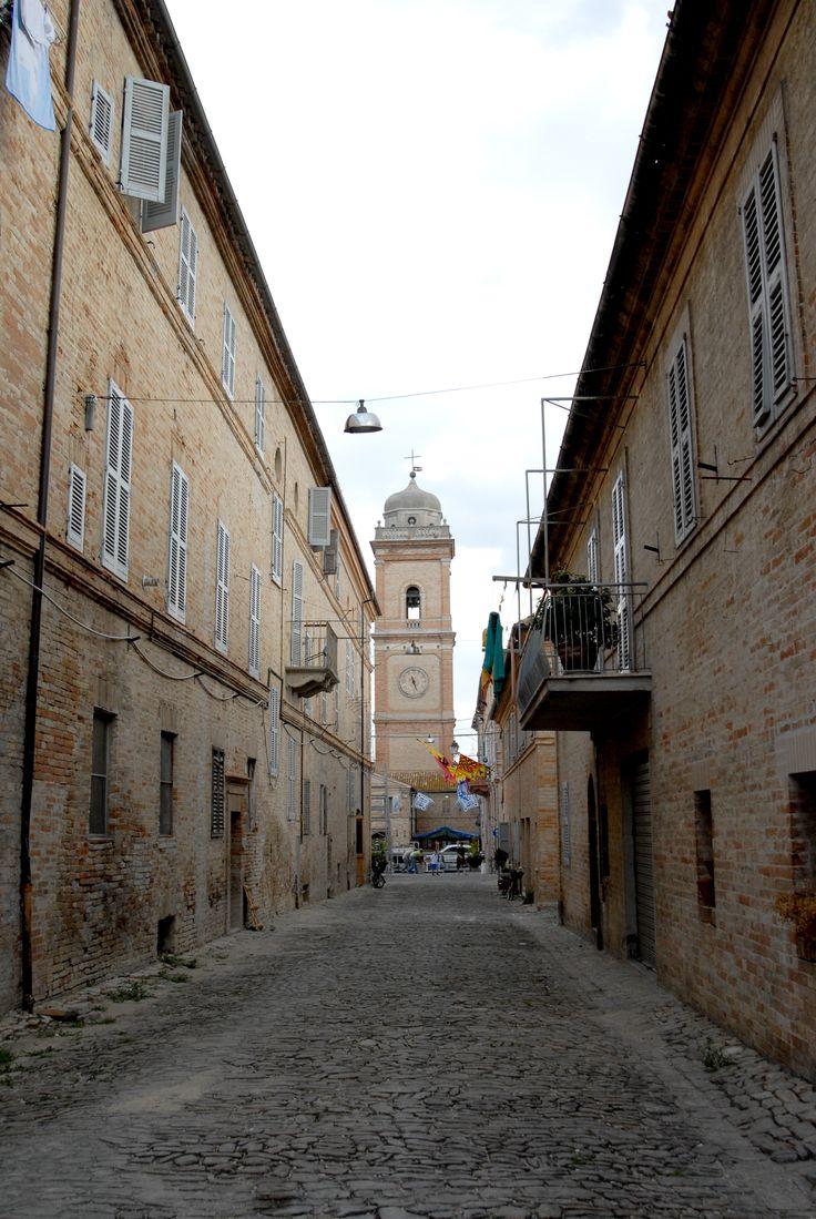 Uno scorcio del centro di Servigliano. #marcafermana #servigliano #fermo #marche