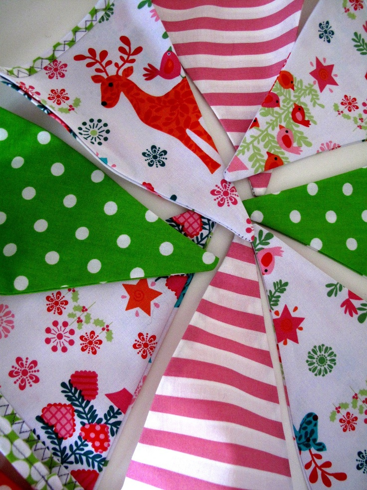 Christmas Bunting x Gorgeous hanging decoration in by SnowFish