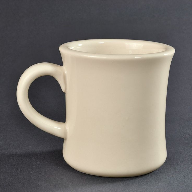 American White (Ivory/Eggshell) Victor 12 oz. China Coffee Mug - 36 / Case
