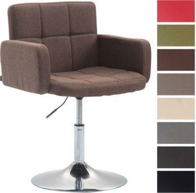 Design Lounge Sessel LOS ANGELES Mit Stoff Bezug, Lounger Drehbar /  Höhenverstellbar, Esszimmerstuhl Mit Trompetenfuß In Chromoptik Jetzt  Bestellen Unter: ...