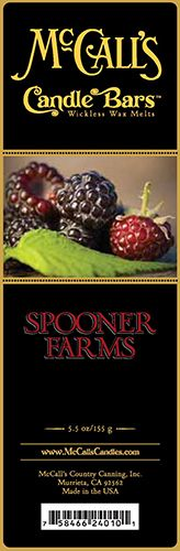 Candle Bars-5.5 oz Pack-SPOONER FARMS-Scented Candles - McCall's Candles