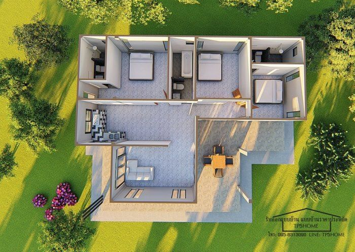 Affordable Three Bedroom House Concepts Pinoy Eplans Affordable House Design Unique House Design Simple House Design