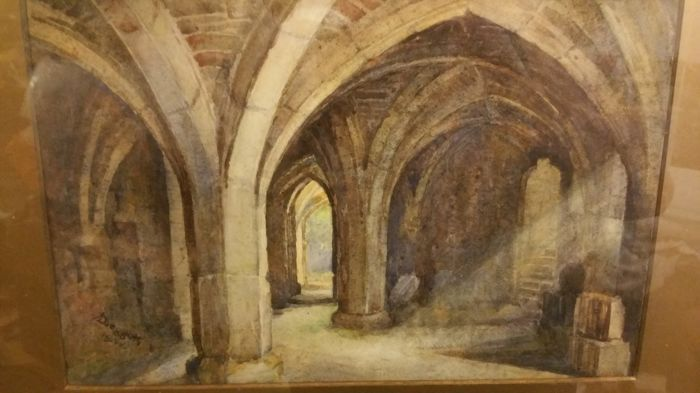 Currently at the #Catawiki auctions: A D Leggett - Church Cathedral Cloisters 1922