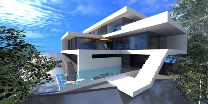 modern house wallpapers : Modern House Plan