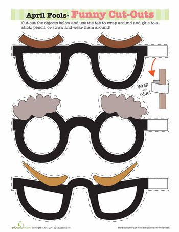 Worksheets: Funny Photo Props