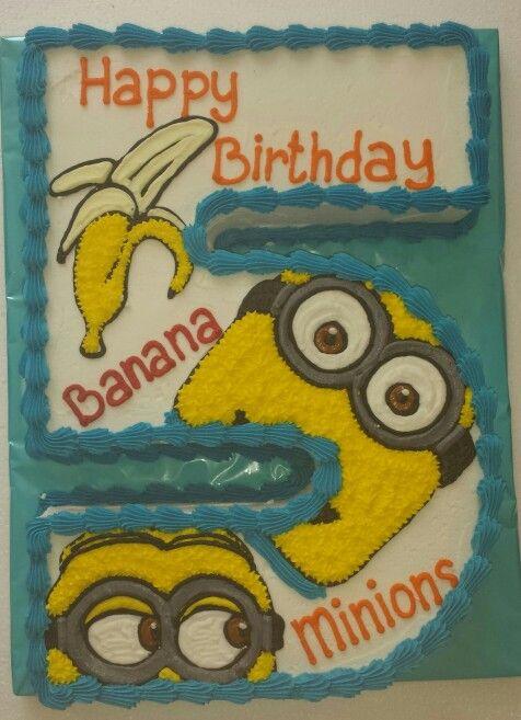 Number Cake #5 Minion