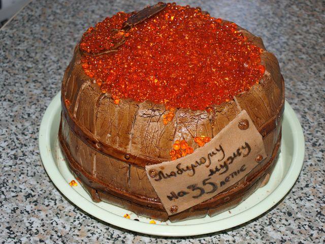 торт Бочонок с икрой_tort-bochonok-s-ikroj-recept-torta-iz-mastiki-s-foto