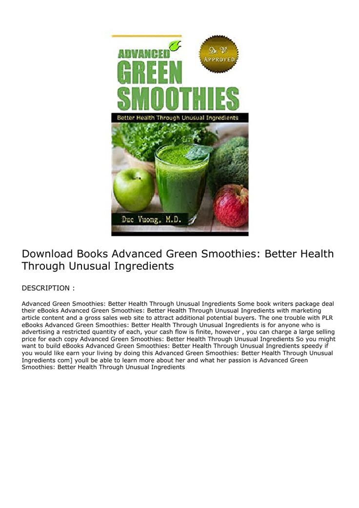 Download books advanced green smoothies better health