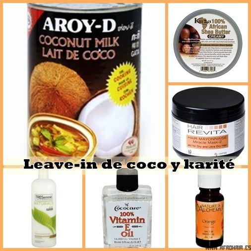 DIY Leave-in de COCO y KARITÉ:  Sencillo, económico y muy efectivo http://afrohair.es/2013/11/leave-in-coco-karite.html