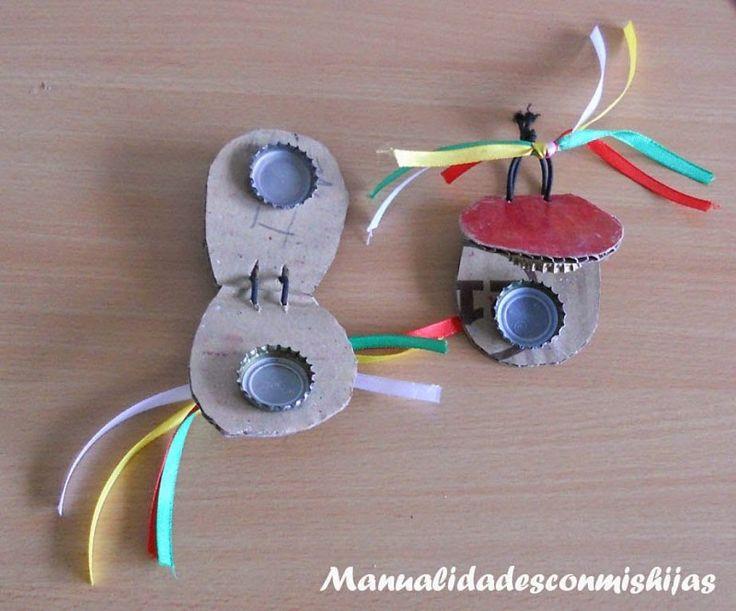 ¿Quién no ha hecho alguna vez en su infancia un instrumento musical? Aquí tenéis algunas ideas para hacerlos ahora con vuestros peques.