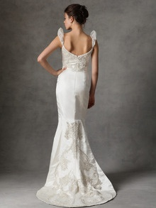 Satin Mermaid Beaded Gown by Reem Acra at Gilt