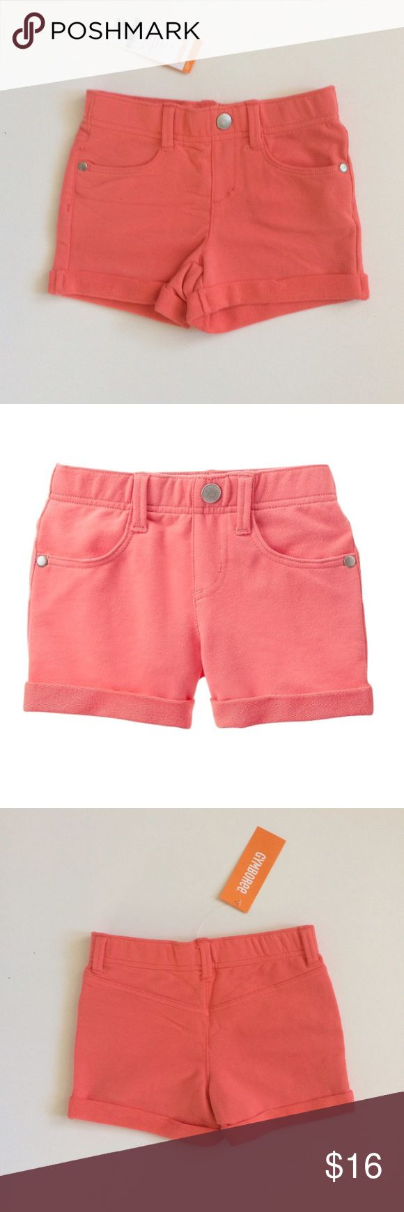 Coral shorts Coral shorts new with tag, front pockets and a mock fly. Has some stretch. Gymboree Bottoms Skorts