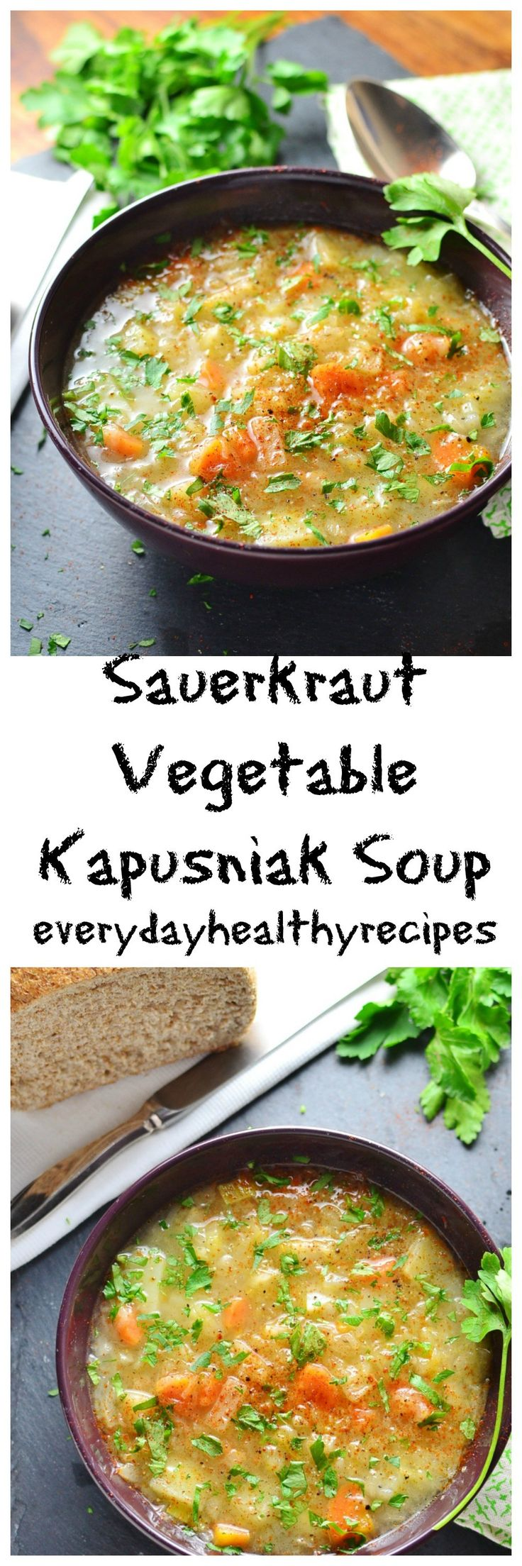 Sauerkraut Vegetable Kapusniak Soup...nice recipe!