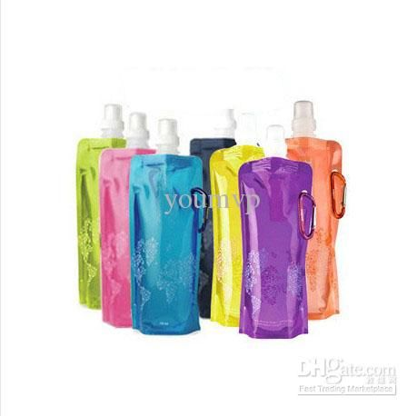 Wholesale Water Bottle Comes Flat, Foldable Water Bottle Collapsible 0.48 Litres Anti-Bottle, Free shipping, $1.2/Piece | DHgate