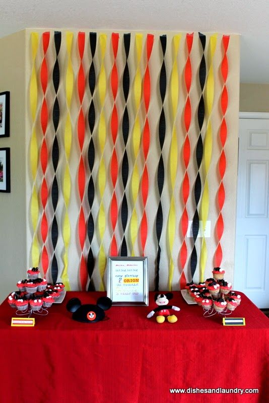 Mickey Mouse Clubhouse themed dessert table.