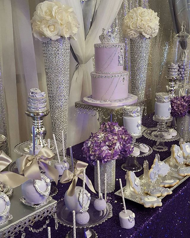 Purple Princess Sweet 16 #eventplanning #eventstyling # ...