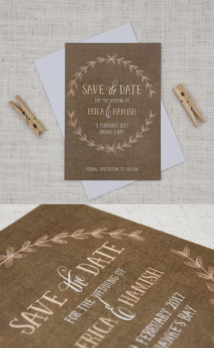 cruise wedding save the date announcement%0A Rustic Wreath Save the Date