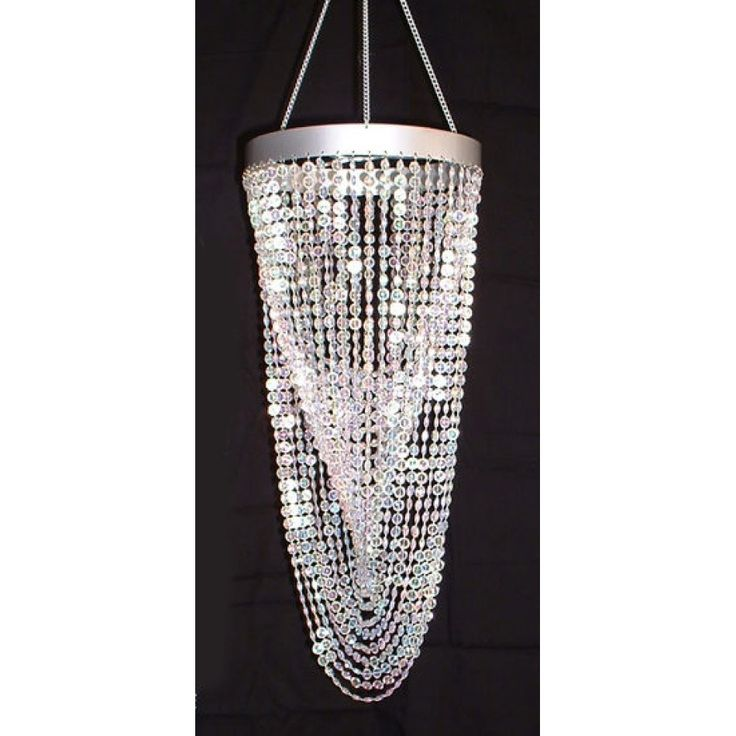Twisted Rabbit's Foot Chandelier - Crystal [ZHLLSW4-CRY Bullet Chandelier] : Wholesale Wedding Supplies, Discount Wedding Favors, Party Favors, and Bulk Event Supplies