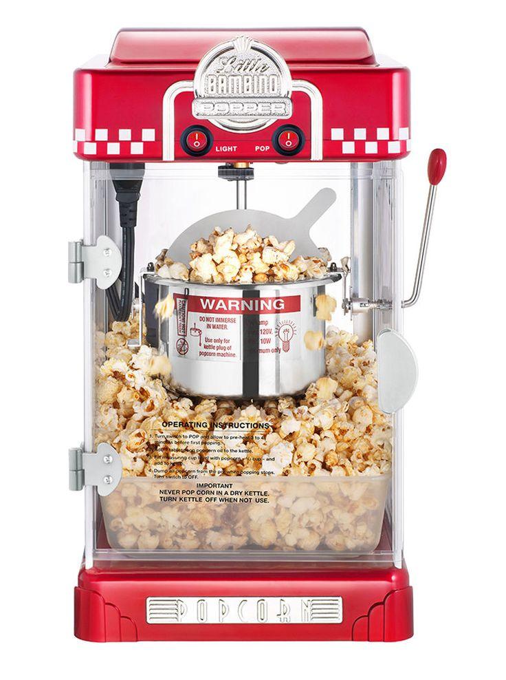 50Hz Commercial/Household Stainless Steel Popcorn Machine 80G 300W 220V