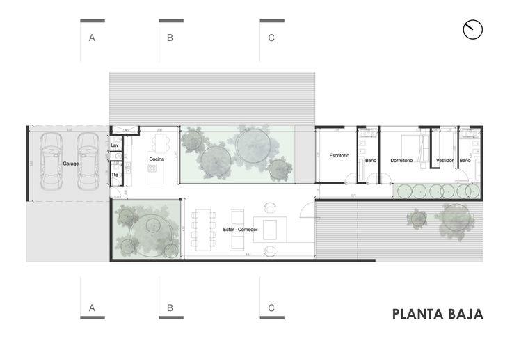 Imagen 8 de 15 de la galería de Casa RB / Fritz + Fritz Arquitectos. Floor Plan