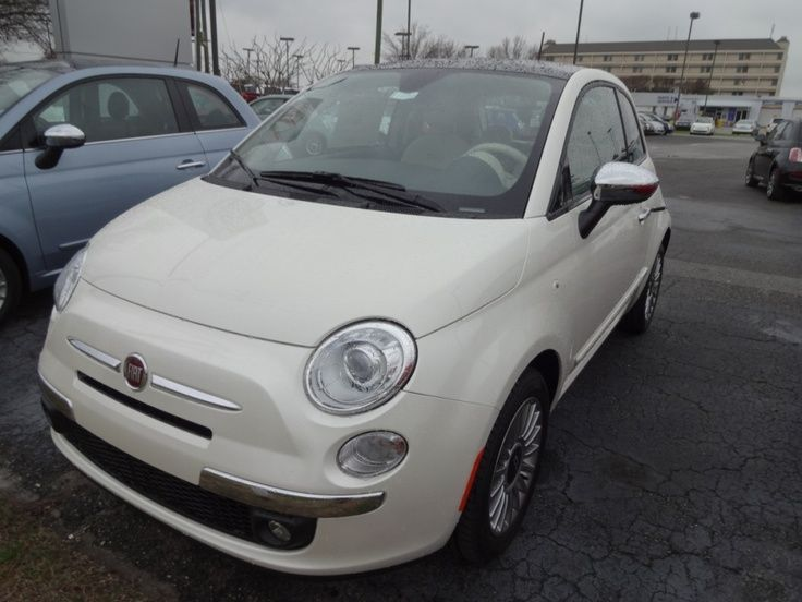 2013 FIAT 500 Lounge For Sale | Wilmington NC . Pearl White Finish w/ Chocolate Interior