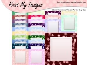 5x5 Card Fronts Set 5
