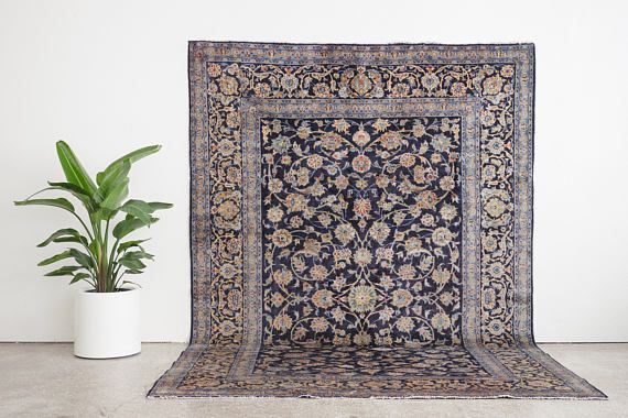 name: Shahab style: hand knotted, Persian, rug, carpet material: wool colors: red, orange, yellow, teal, blue, navy, gray, black, cream age: vintage condition: good, age related wear 84 x 123 (closest standard rug size is 7x10)  Please see pictures for detailed condition. There are more photos of this product available on our website HomesteadSeattle.com  Free domestic shipping on all rugs. Contact us for an international shipping quote.