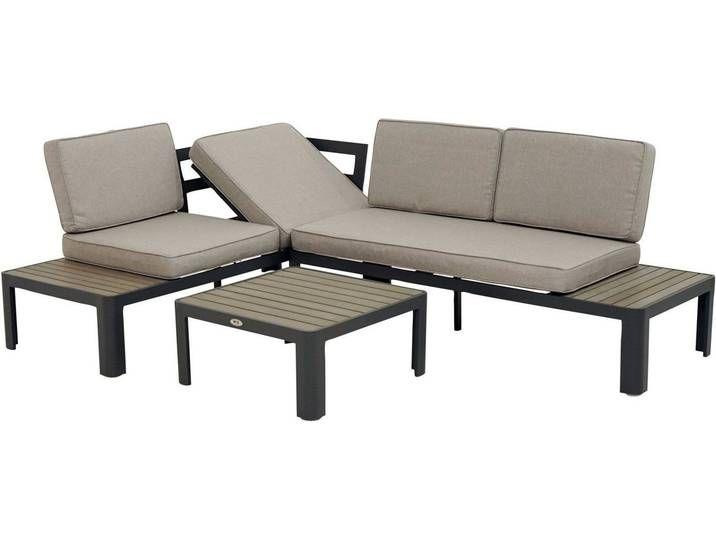 Ploss Ploss Loungeset Calypso 2 Sofas Tisch 70x70 Cm Alu