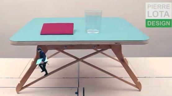 table basse avec 2 x 2 cintres bois (4 boulons + 4 petite équerres + plateau peint  http://youtu.be/uRIZeMnfVgQ?t=11s