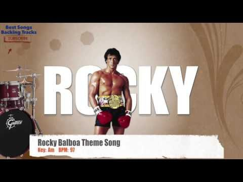 Rocky Balboa Theme Song Drums Backing Track with chords and lyrics