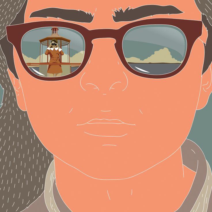 Moonrise Kingdom illustration. Federico Gastaldi, SalzmanArt.com, Salzman International, conceptual, movie, cinema, Wes Anderson, flat, graphic, love, illustrator