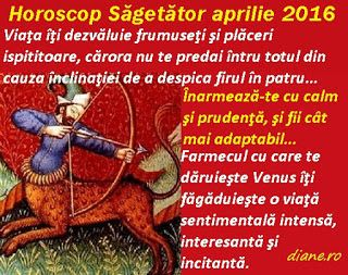 diane.ro: Horoscop Săgetător aprilie 2016