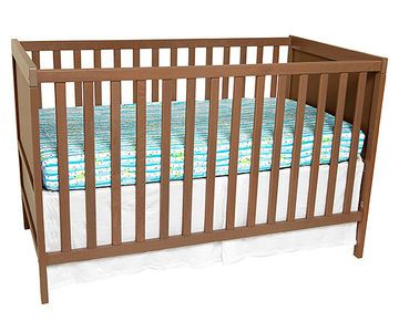 This Sundvik crib from IKEA has two heights for the crib mattress and converts to a toddler bed. And you can't beat the price ($119).