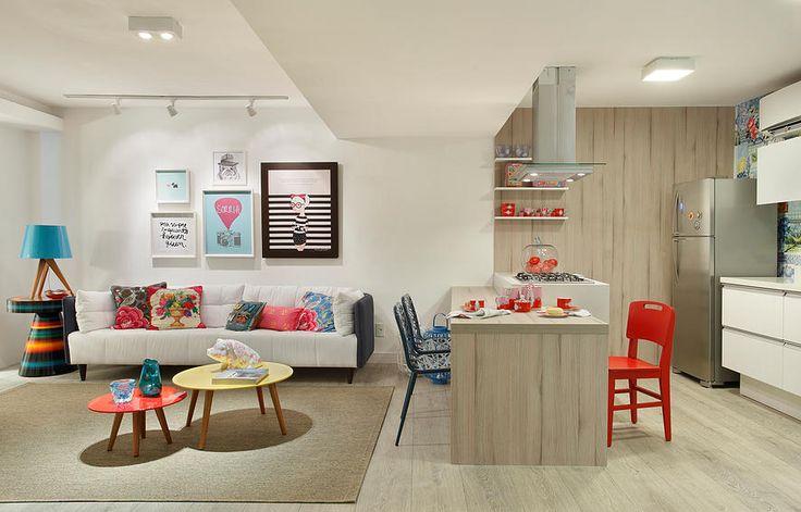 Pequeno apartamento para ela: feminino, atual e integrado