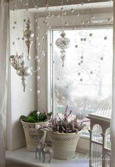 Hanging Xmas Ornaments and  Garland