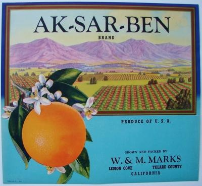 Vintage Orange Crate Labels and others at thelabelman.com