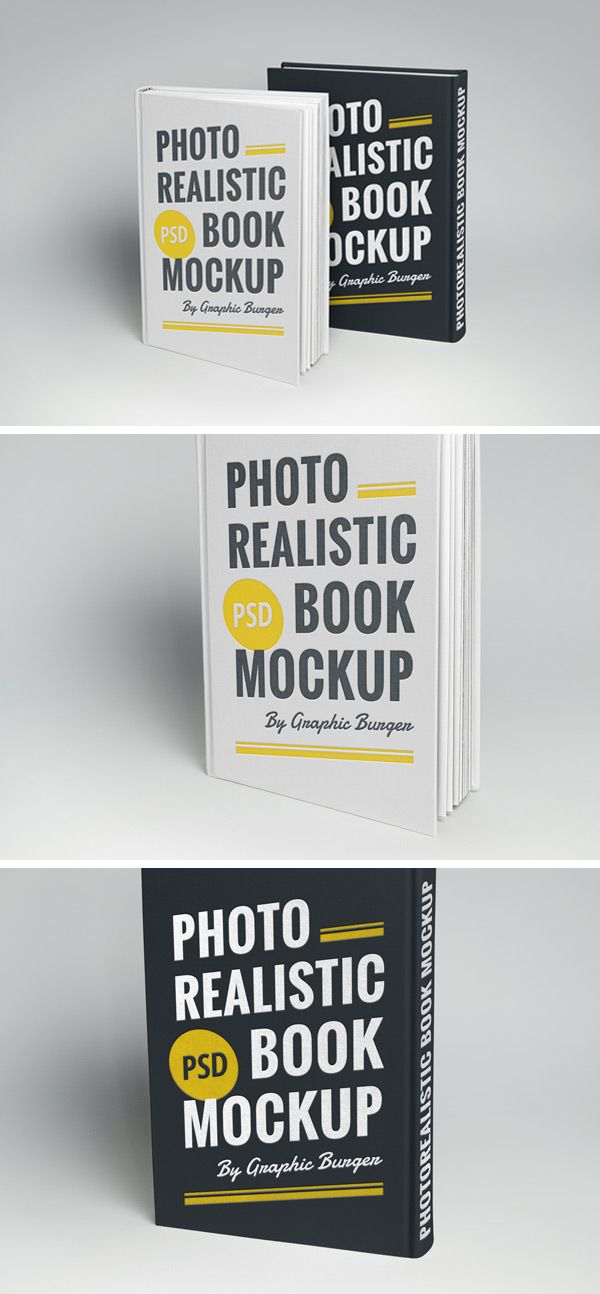 Hardcover Book MockUp | GraphicBurger