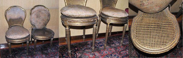 sedia  in legno dorate vendute in coppia