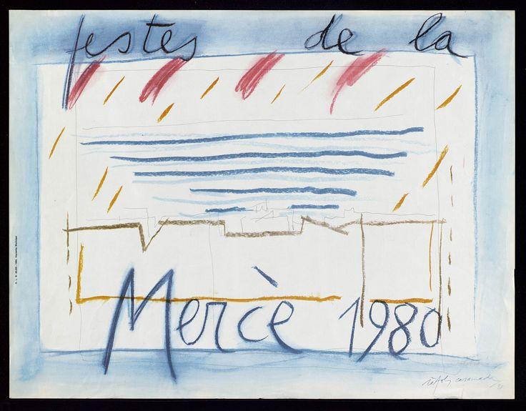 ANUNCIANT: Ajuntament de Barcelona. PEÇA: Cartell Festa de La Mercè  Autor: Ràfols Casamada ANY: 1980
