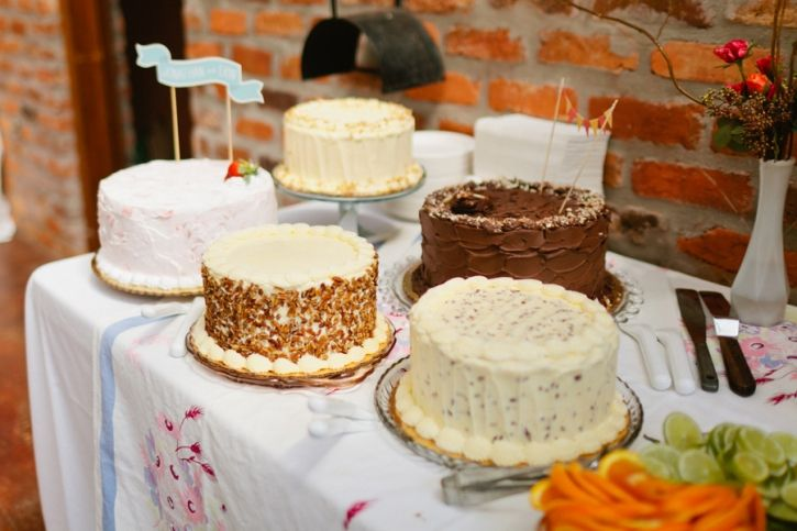 I'm loving  multiple cakes at a wedding! :)  Just as easy to have a few small ones as 1 big one :)