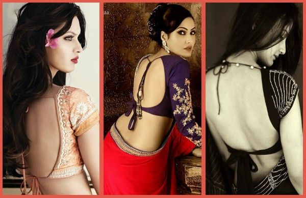 Pattu Blouse Back Neck Designs 2014 - Fashion and you makeup skin beauty tips ideas with stylishfame.com