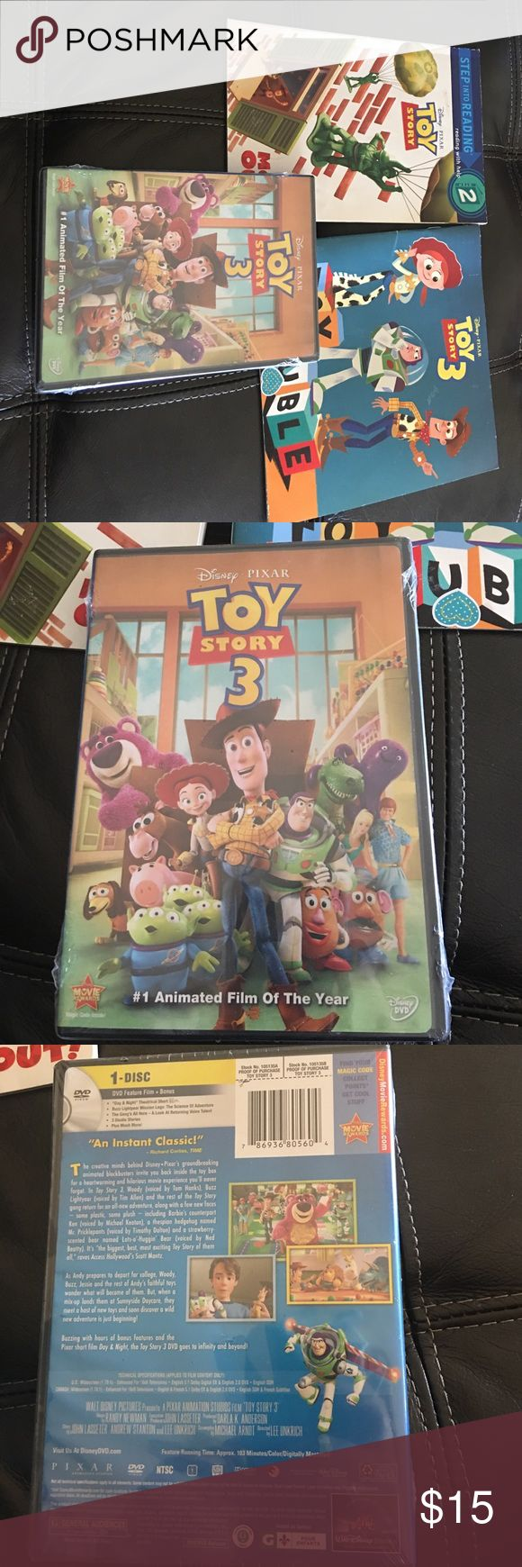 Toy story 3 movie and books Toy story DVD new and 2 books Disney Other