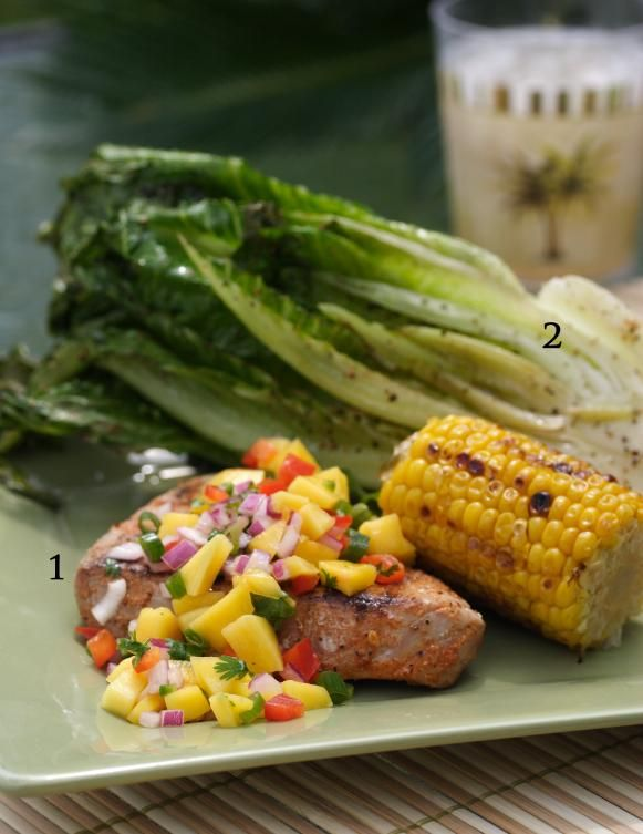 Grilled Tuna Steak with Mango Salsa