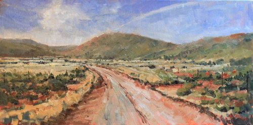 Timeless Karoo - oil painting by Malcolm Dewey