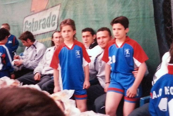 Dimitris Pelkas with Dimitris Salpingidis