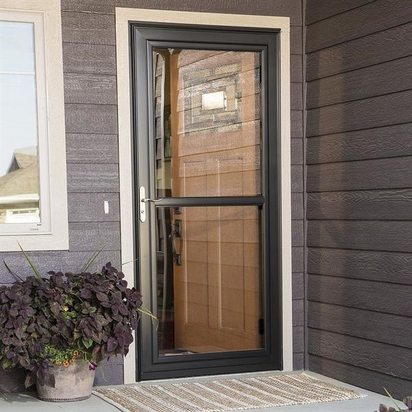 Larson 36 In X 81 In White Tradewinds Full View Tempered Glass Storm Door Lowe S Canada Storm Door Makeover Aluminum Storm Doors Best Storm Doors