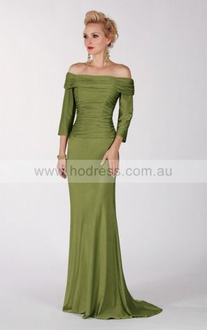 Zipper Floor-length Natural Sheath Chiffon Formal Dresses aiga307049